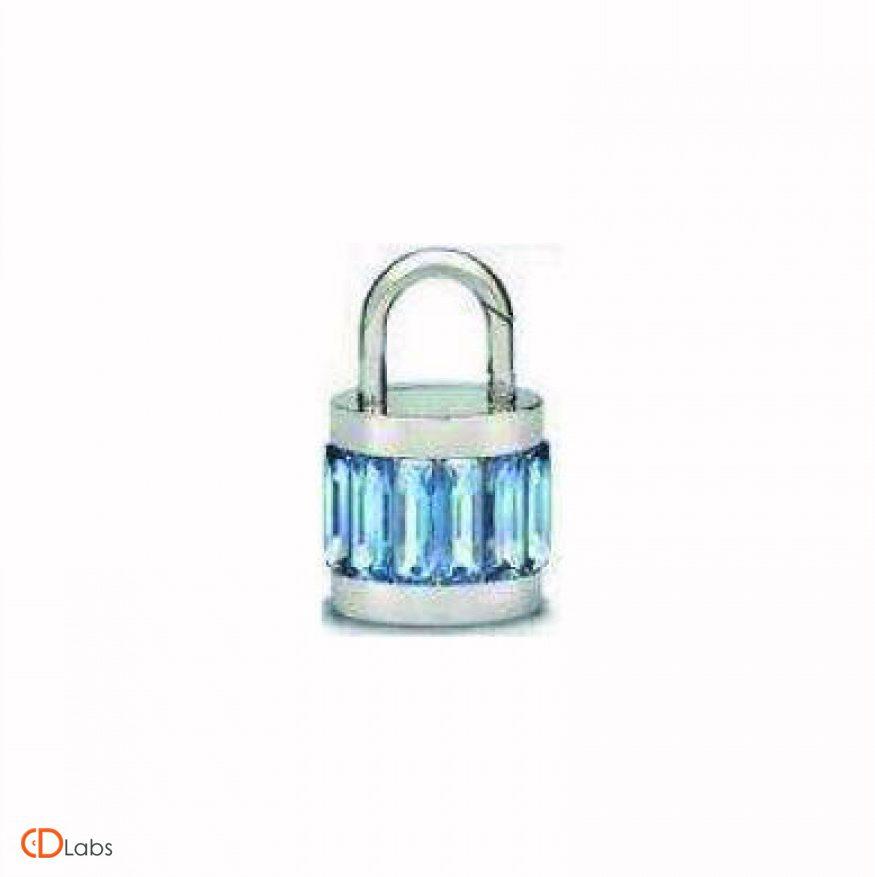 Ювелирная флешка Замок с кристаллами