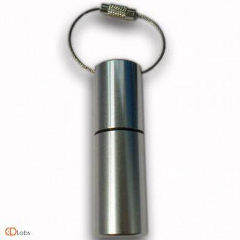 Металлическая флешка Цилиндр гланцевая с тросиком