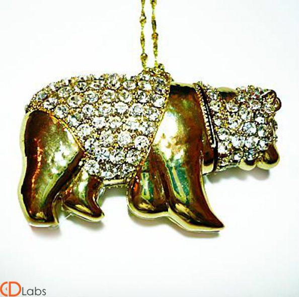 Ювелирная флешка Медведь