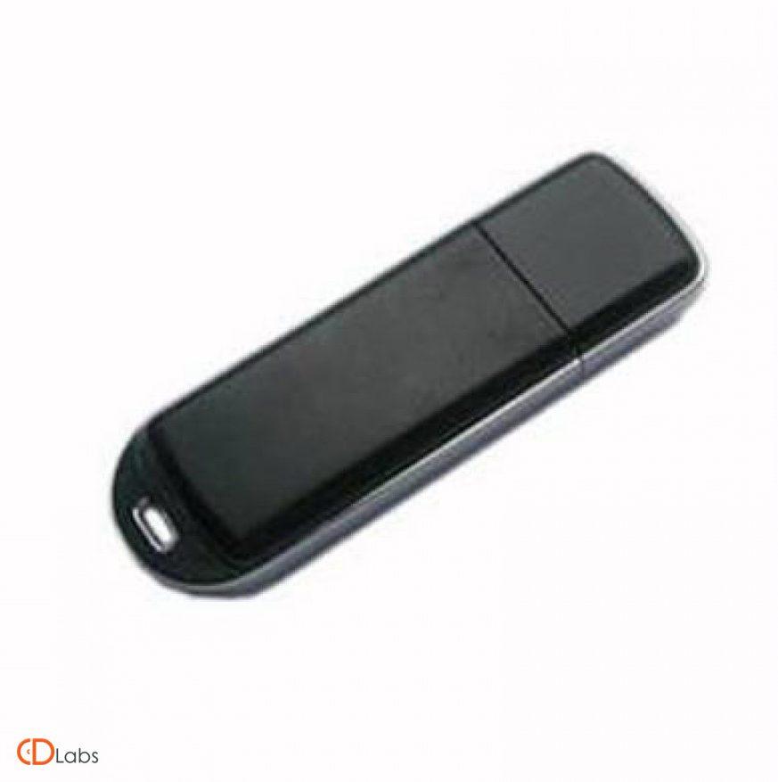 Пластиковая флешка с проушиной черная