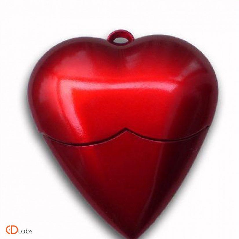 Пластиковая флешка сердце