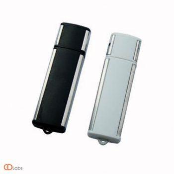 Пластиковая флешка черная, стальная