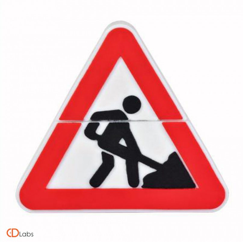 Флешка в форме дорожного знака «ведутся дорожные работы»
