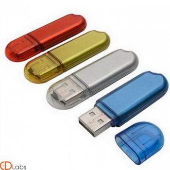 Пластиковая флешка — выбор цвета, прозрачный корпус