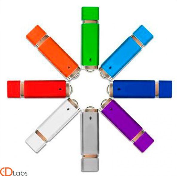 Пластиковая флешка классическая выбор цвета