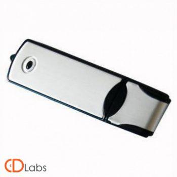Пластиковая флешка комбинированная стальная