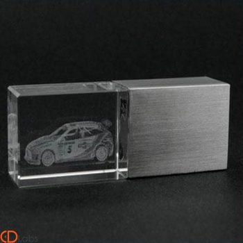 Флешка cтеклянная 3D гравировка